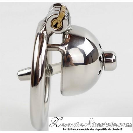 CB Confinement avec plug d'urètre ring 40mm