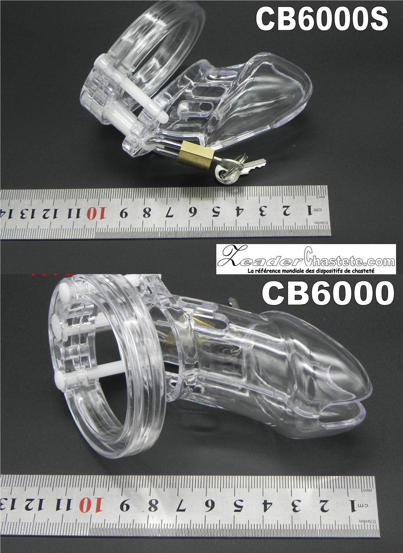 Comparatif des tailles entre la CB6000 et la CB6000S