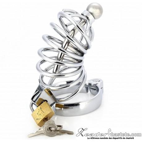 Cage de chasteté avec sonde ou plug d'urètre