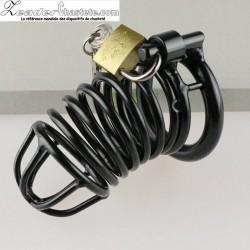 Cage de chasteté The snake noire