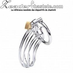 Cage de chasteté Stainless steel gros sexe 50mm